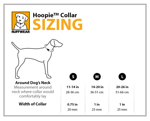 Ruffwear Hoopie Dog Collar Sizing