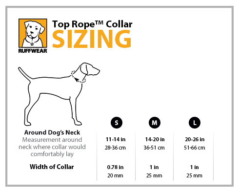 Ruffwear Top Rope Dog Collar Sizing